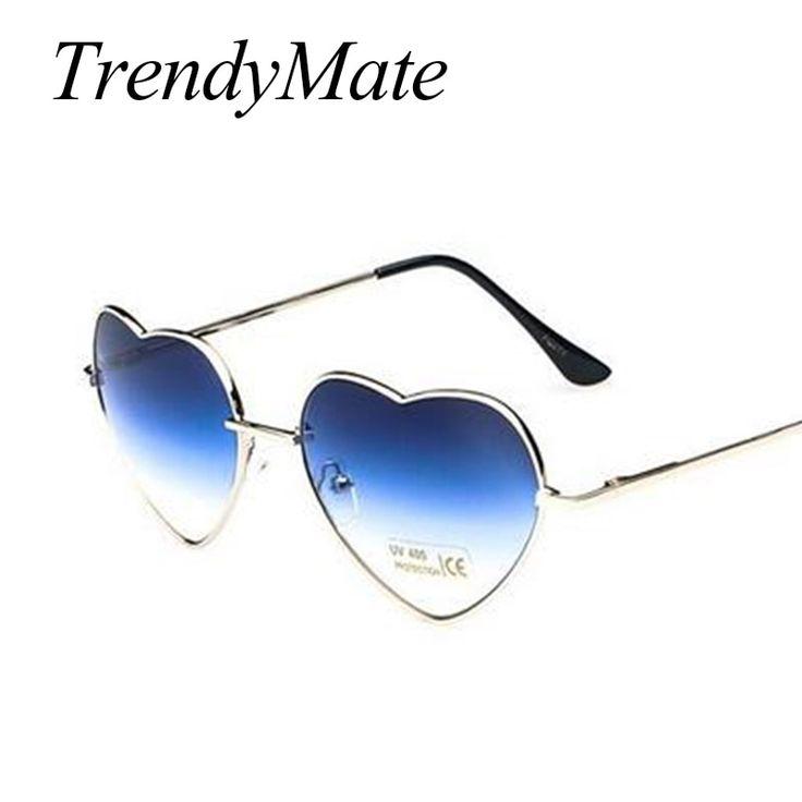 Love Shape Heart Sunglasses Women Brand Design Retro Alloy Frame Sun Glasses Vintage Mirror Sunglass Oculos De Sol Feminino M564