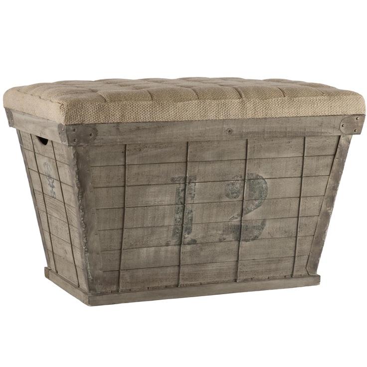Aidan Gray Storage Crate in Black