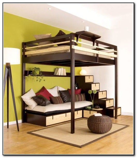 Loft Beds For Adults With Desk Loft Bed With Couch Loft Bed Plans Cool Loft Beds