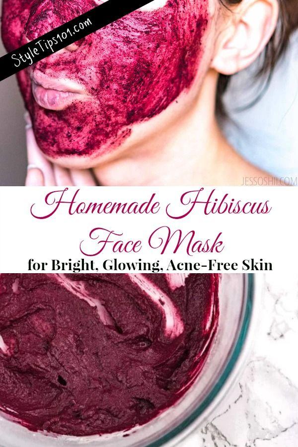 Mascara Facial De Hibisco Caseiro Homemade Face Homemade Face Masks Face Mask Recipe