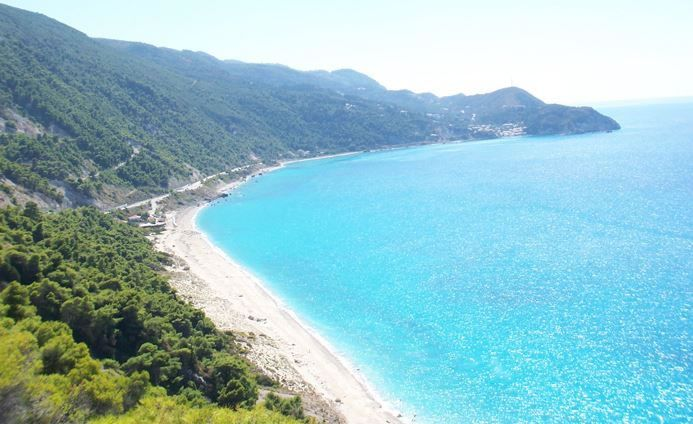 Agiofili beach (Greece) is one of clearest and most crystal beaches on Lefkada island. It is located just a few kilometers form Vasiliki and is not the easiest of places to get to.