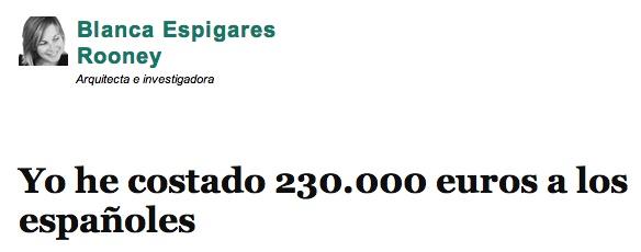 Sí, yo valgo 230.000 euros. No se sorprendan, es así.
