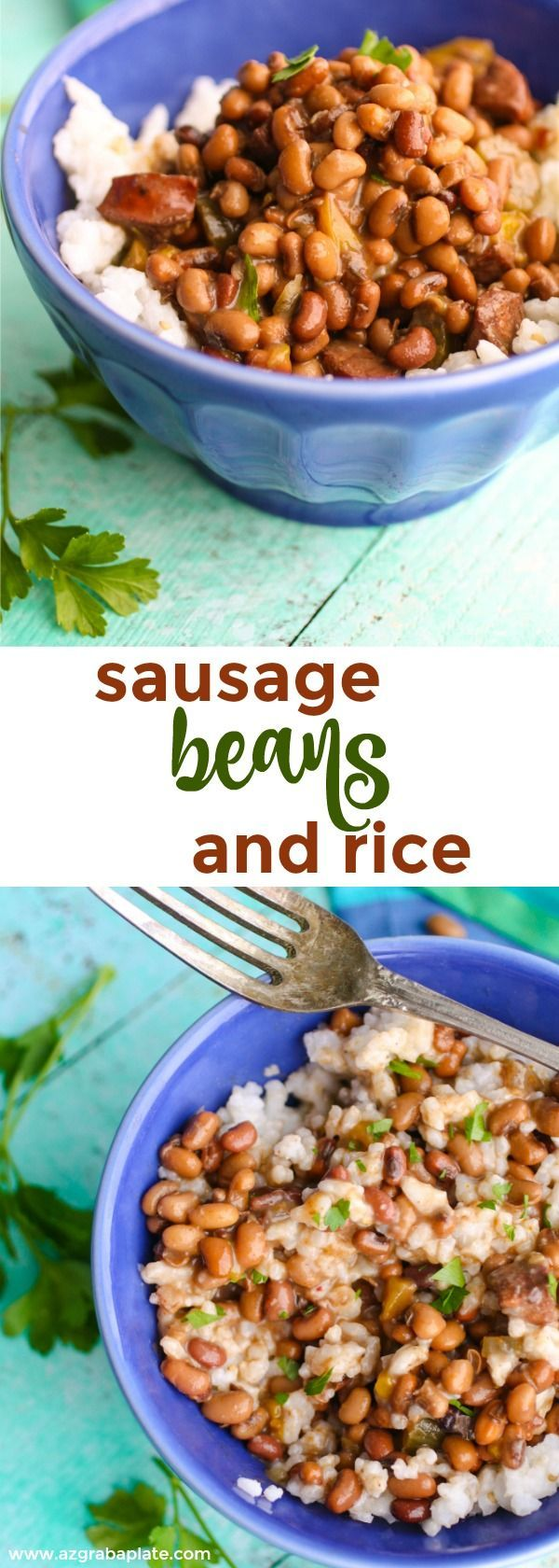 Sausage, Beans, and Rice is a Southern-inspired, hearty and flavorful dish. Now that the cool weather is here, it's perfect!