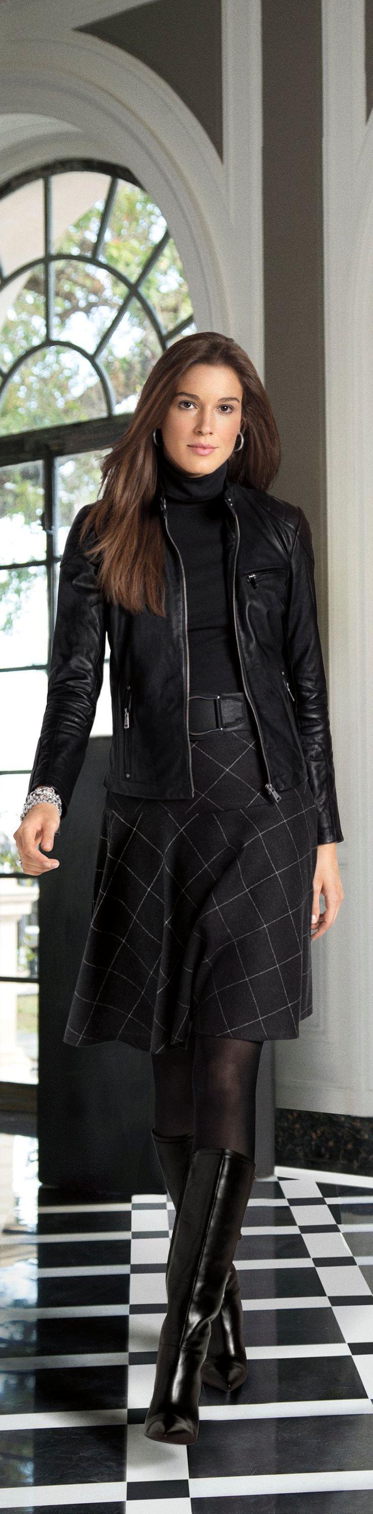 Renouvelez votre look d'automne signéLaurenRalphLaurenavec des tons élégants de noir et de gris