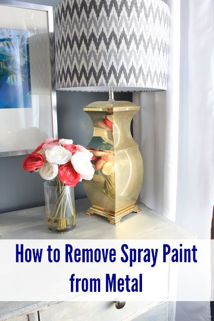 How to remove spray paint from metal objects easily with just a few supplies.
