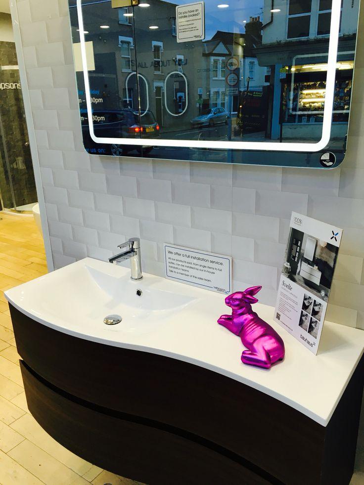 @crosswater area easter 2016 #grey #bunny  #basin www.Bathroomsatsource.co.uk