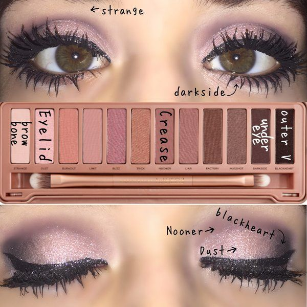Naked 3 Eye Makeup Picture Turorial