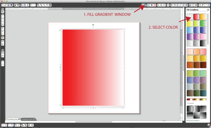 Silhouette Blog: How to create an ombre background for printables using the Silhouette program