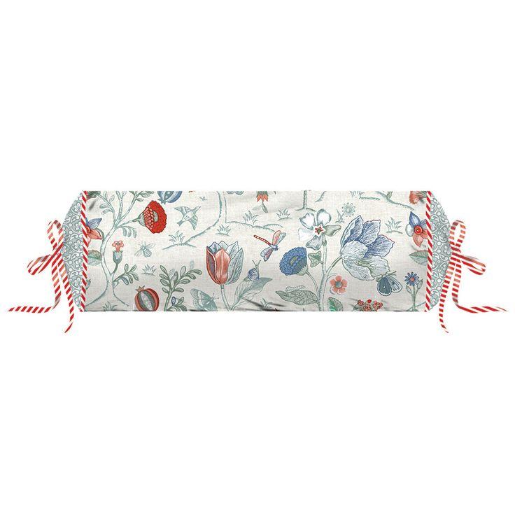 Cuscino roll SPRING TO LIFEin puro cotone percalle stampato di Pip Studio.