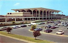 """Memphis International Airport: It boasted a VERY stylish """"Jet Age"""" architectural design when it was dedicated in 1963."""