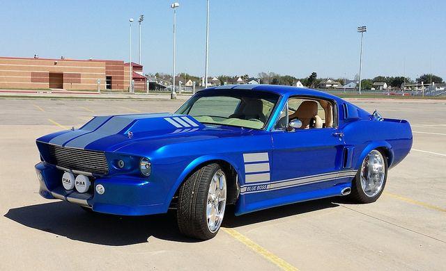 1967 Ford Mustang Blue Boss Custom