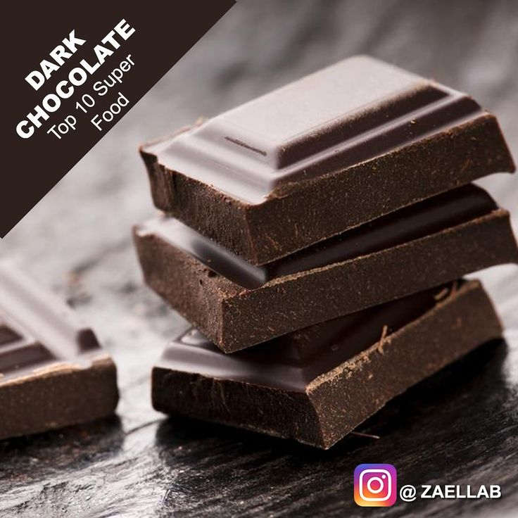 Top 10 Superfood  Dark Chocolate  Like Spread & Share   A 100 gram bar of dark chocolate with 70-85% cocoa contains 11 grams of fiber 67% of RDA (Recommended Daily Allowance) of Iron 58% of RDA of Magnesium 89% of RDA for Copper 98% RDA for Manganese 600 calories. Dark chocolate also loaded with organic compounds that are biologically active and function as antioxidants.  Superfood has loads of nutrition that the average eater should include it in the daily diet. Follow @ZAELLAB for…