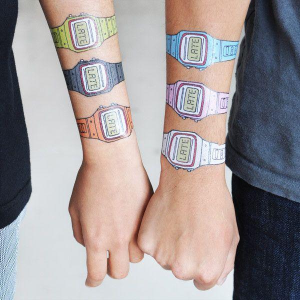 Tattly™ Designy Temporary Tattoos — Watch Set