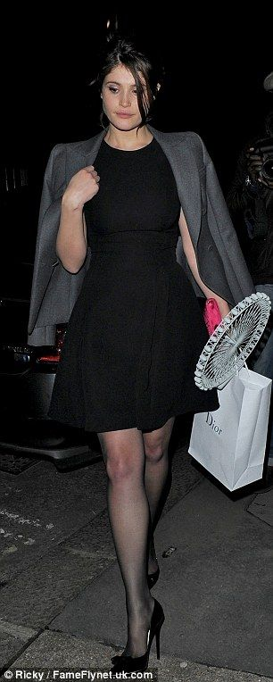 @gemma_arterton took a piece of the display from the store before leaving to go on to Harry's Bar for the afterparty