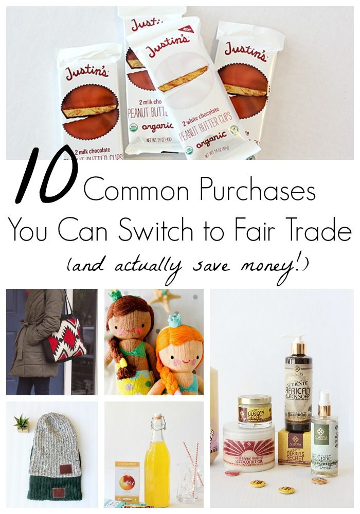 10 Common Purchases You Can Switch to Fair Trade Now (and actually save money!)
