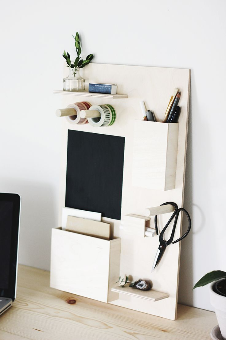 Today we're over on Poppytalk sharing how to make a wooden desk organizer!