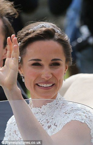 Speaking about her teeth, left, last month, and, right, in 2008, Dr Eskander said: 'I think that Pippa has had some bonding to level her teeth, and to smooth any ridges as they are very even,' she added