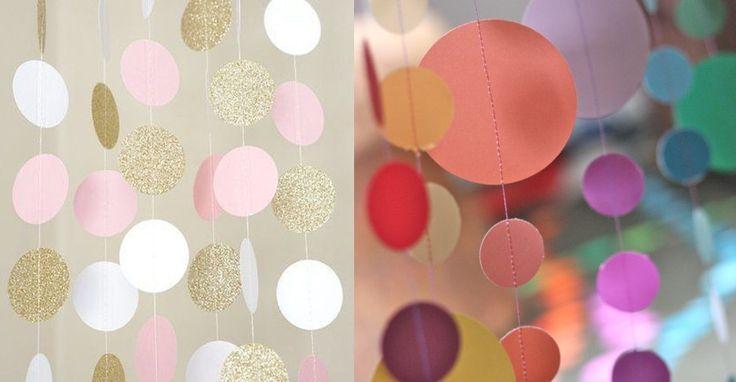 Эта шикарная бумажная гирлянда украсит любой праздник!