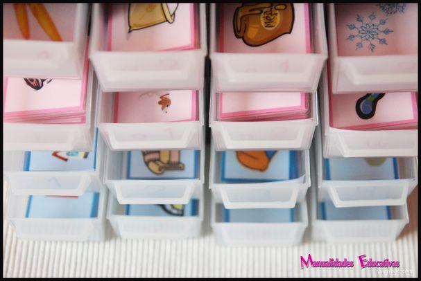 Serie Rosa Montessori - Castellano/Gallego Tarjetas para Imprimir Gratis - Creciendo con Montessori