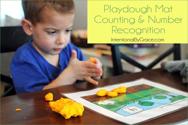 Counting with playdough mats and other Before Five in a Row: The Runaway Bunny activities - Intentional By Grace