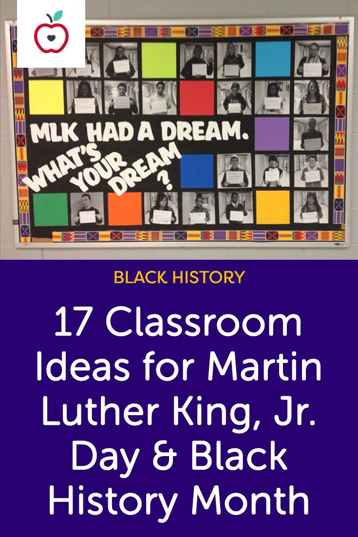 Take a look at our favorite bulletin boards, classroom doors, art projects, writing prompts and more for Martin Luther King, Jr. Day and Black History Month.