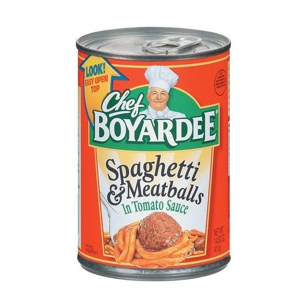 Chef Boyardee In Tomato Sauce Spaghetti Meatballs, 15 Oz ($2.22) ❤ liked on Polyvore featuring home, kitchen & dining, food and food & drinks