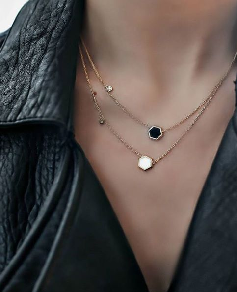 We are loving these necklaces from the Birks Bee Chic collection in mother-of-pearl and black onyx.  Bee colonies are experiencing a global decline due to parasites, pesticides, viruses and environmental changes. In partnership with Alvéole, the Birks for Bees campaign supports the preservation and protection of honey bees.