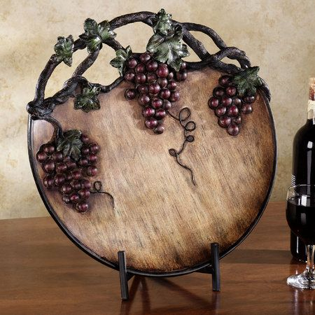 Grape harvest charger plate port home decor pinterest for Grapes furniture and home decor