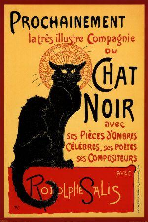 Le Chat Noir-19th-century cabaret, meaning entertainment house, in the bohemian Montmartre district of Paris.