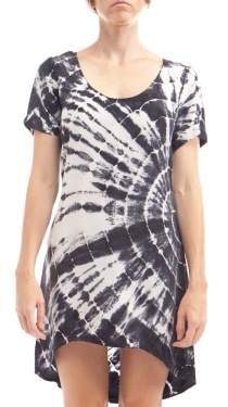 Cairo Dress, Black Tie dye