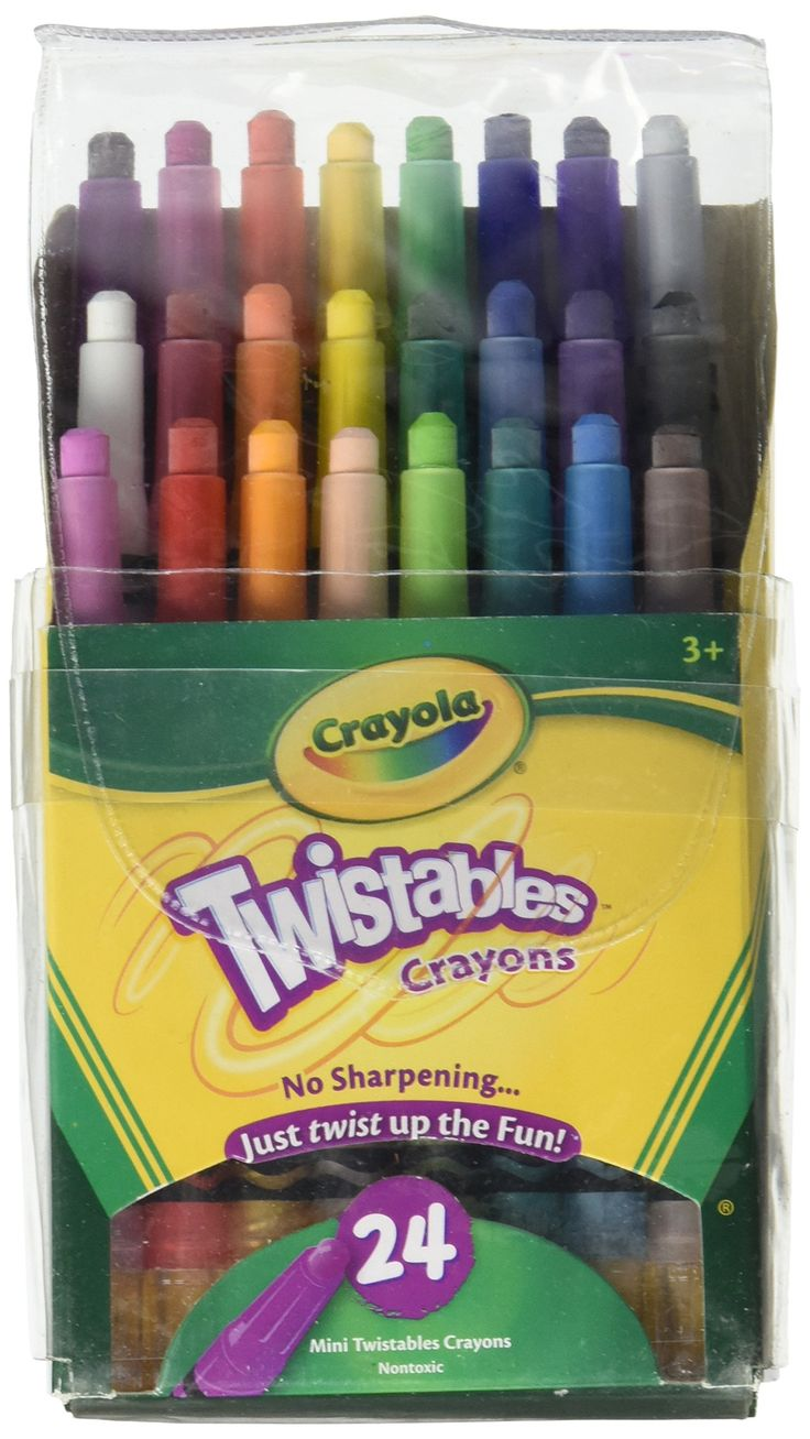 Crayola Mini Twistables Crayons 24 Ct (2 Pack)