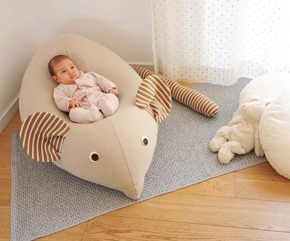 Baby beanbag mouse Kids furniture | Nursery decor pillow| Baby soft Beanbag | beanbag chair | Toddlers nest| stuffed animal | my first gift