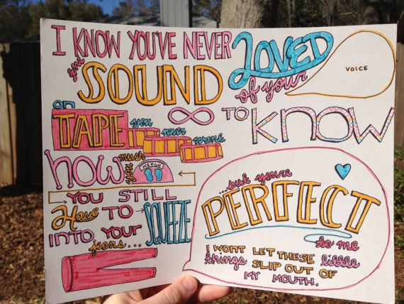 Little Things Lyric Drawing by TaylorandEmilysEtsy on Etsy ...
