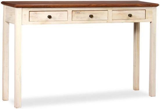 Side Table Bruin.Vidaxl Sidetable Hout Wit Bruin 120x30x76 Cm Keuken