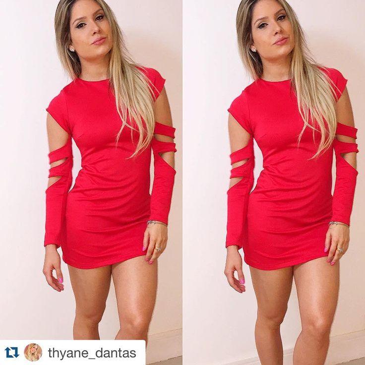 """Linda como sempre de look @kronneoficial  gata demais ❤️ #Repost @thyane_dantas with @repostapp. ・・・ Dress @kronneoficial ❤️ #kronnelover"""