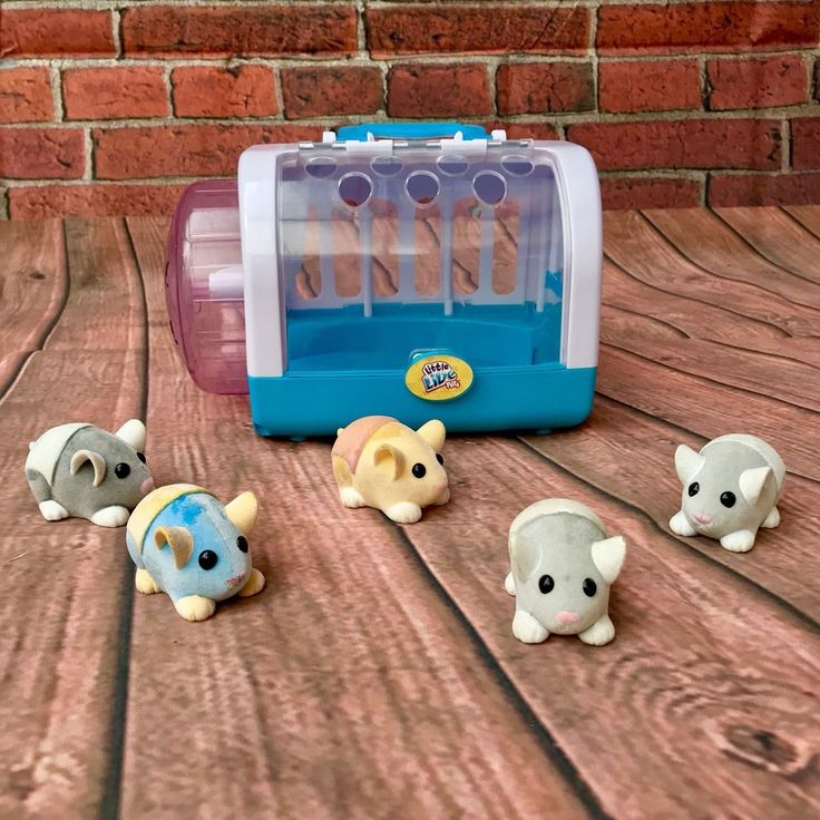 Little Live Pets Mouse Cage 5 Mice carrier with wheel kids toy animals mouse vgc