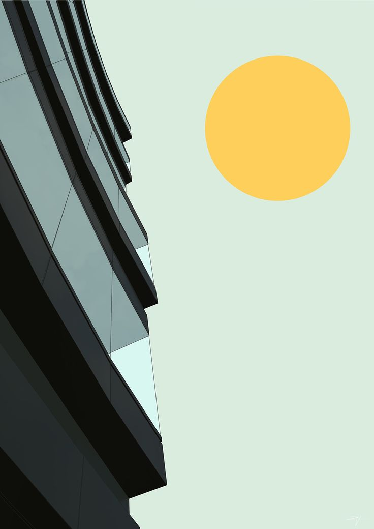 Architectural poster #5 (vector) on Behance