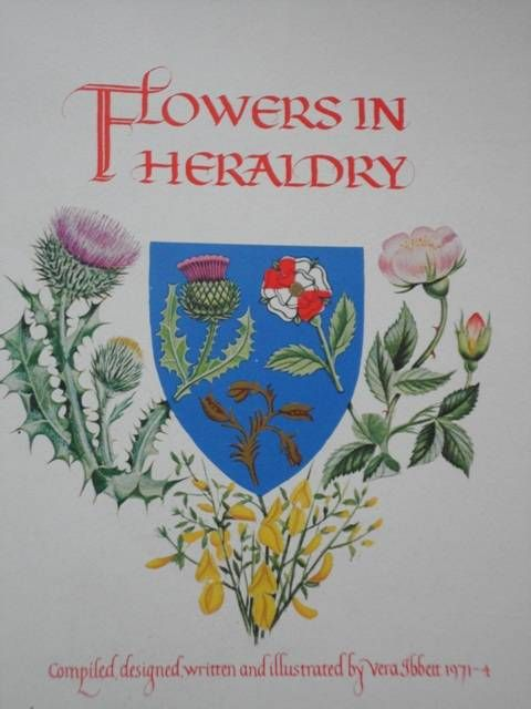 Flowers in HeraldryThe Alcuin Society, Vancouver, British Columbia, 1977. Large quarto (approx. 35 by 26 cm.) A Fine copy of the unbound edition of this work, containing 21 images on folded stiff pages – Chromomat 300 gm, supplied by Arjomari-Prioux, France - laid in cardcovers.