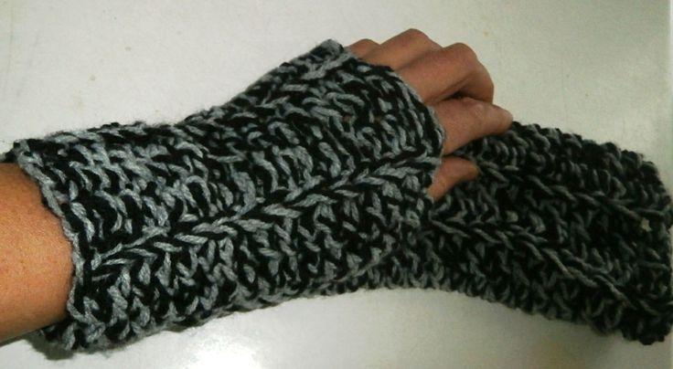 πλεκτά χειροποίητα γάντια χωρίς δάχτυλα
