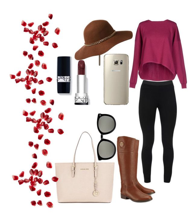 Hello Autumn! by juliannacortes on Polyvore featuring polyvore, fashion, style, Peace of Cloth, Tory Burch, Michael Kors and Karen Walker