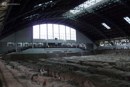 Check out the sheer size of the pit with the Terracotta Army of Qin Shi.