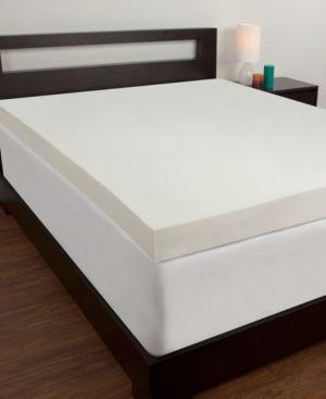 Comfort Revolution 4'' Memory Foam Queen Mattress Topper - White