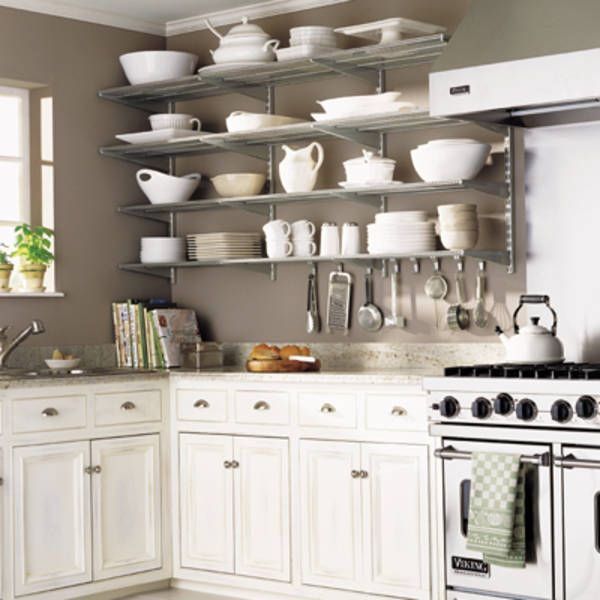 Make up with shelves what you lack in cabinets.