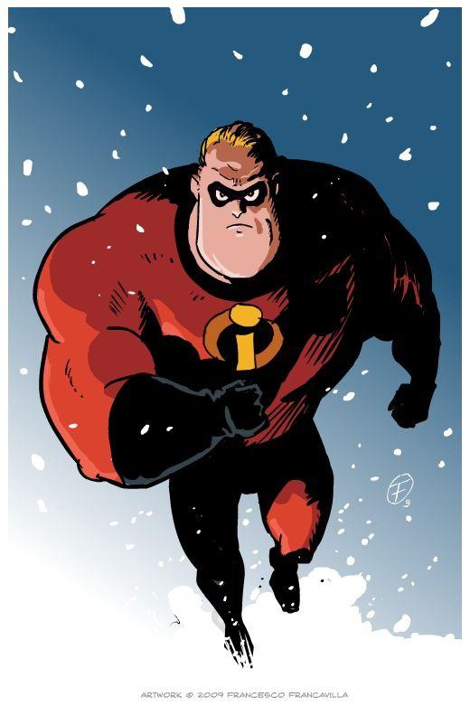 Thunderbird 6 Cartoon Characters : Quot mr incredible by francesco francavilla zartist