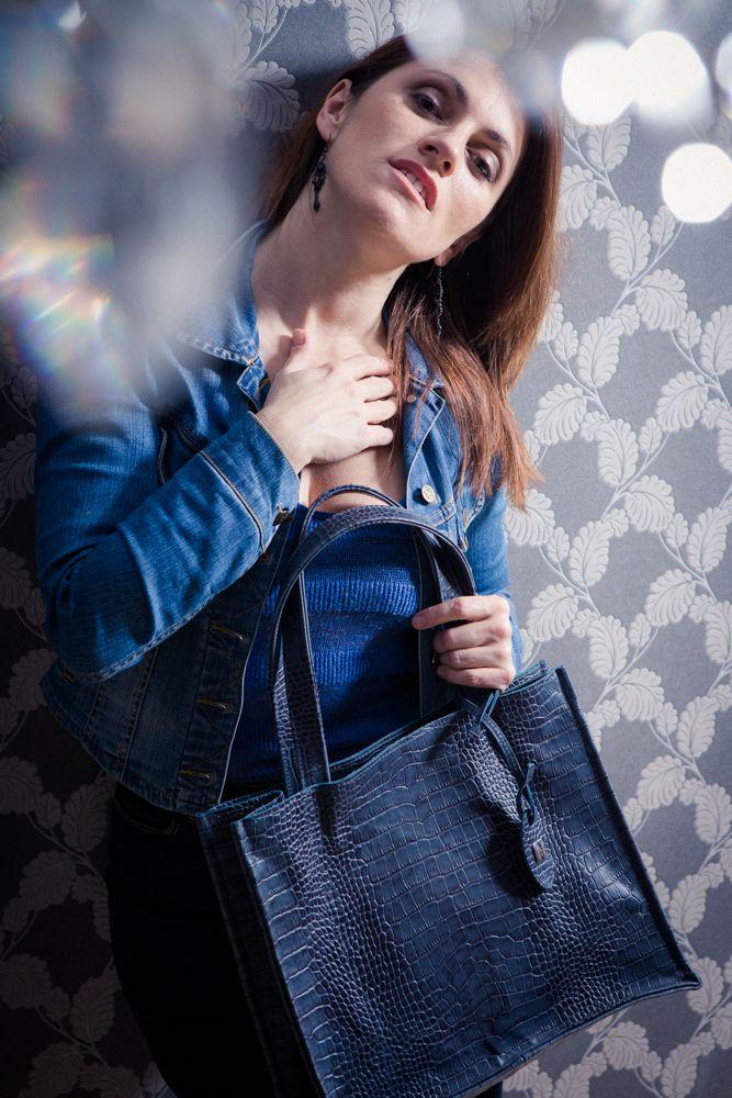 Granatowa torebka – Gracya #bag #handbag #fashion #design #leather