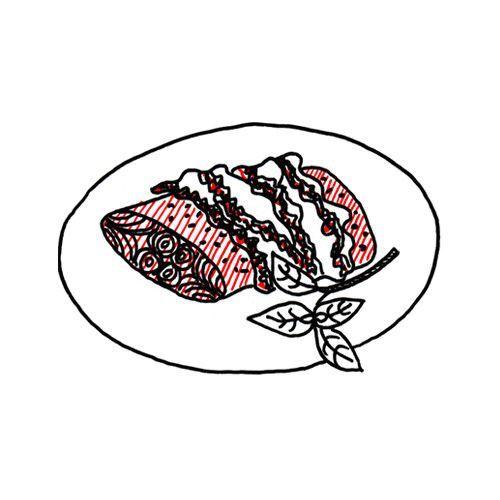 Zalm uit de oven met pesto en rauwe ham - okoko recepten