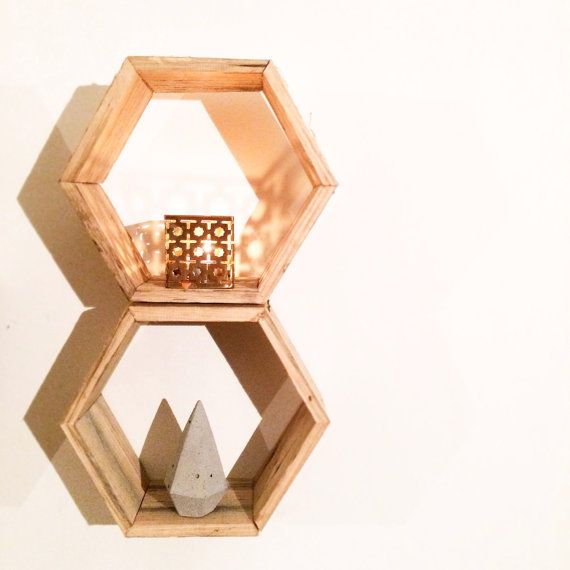 WOODDEN Mini Hexagon Timber wall art made from by WOODDENHOME