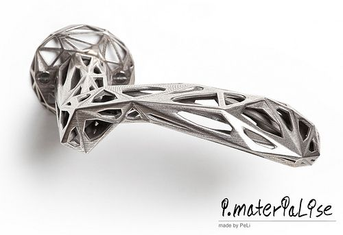 i.materialise 3D printed doorhandle. WOW.