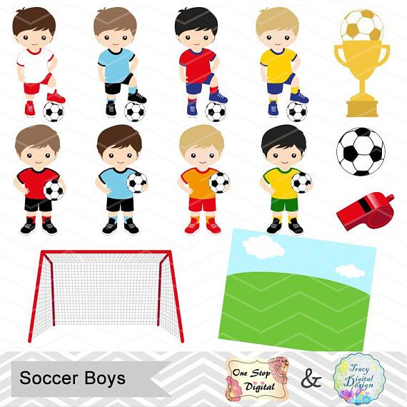Digital Boys Soccer Clipart Boy Soccer Digital Clip Art Etsy In 2020 Soccer Boys Clipart Boy Soccer