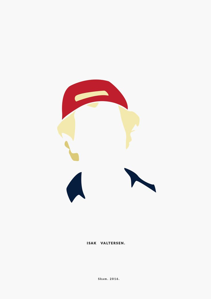 Isak Valtersen.  SKAM. 2016.  __________minimal project - (Part Five)  IG https://www.instagram.com/brbrgraphics/